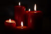 Xmas candles - free  images to use -