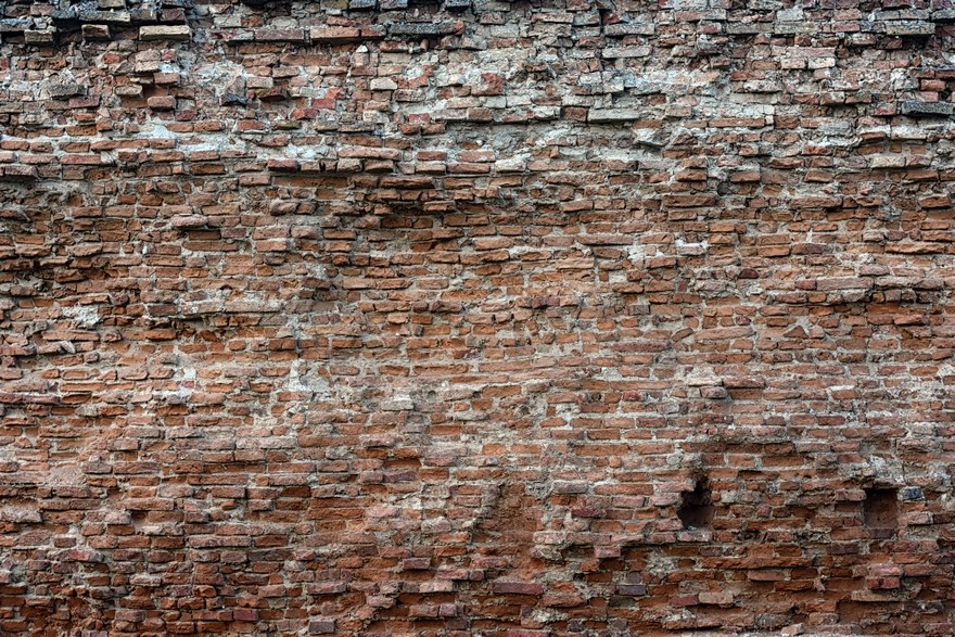 Picture of old castle brick wall ruins