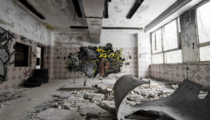 Abandoned building with graffiti #2