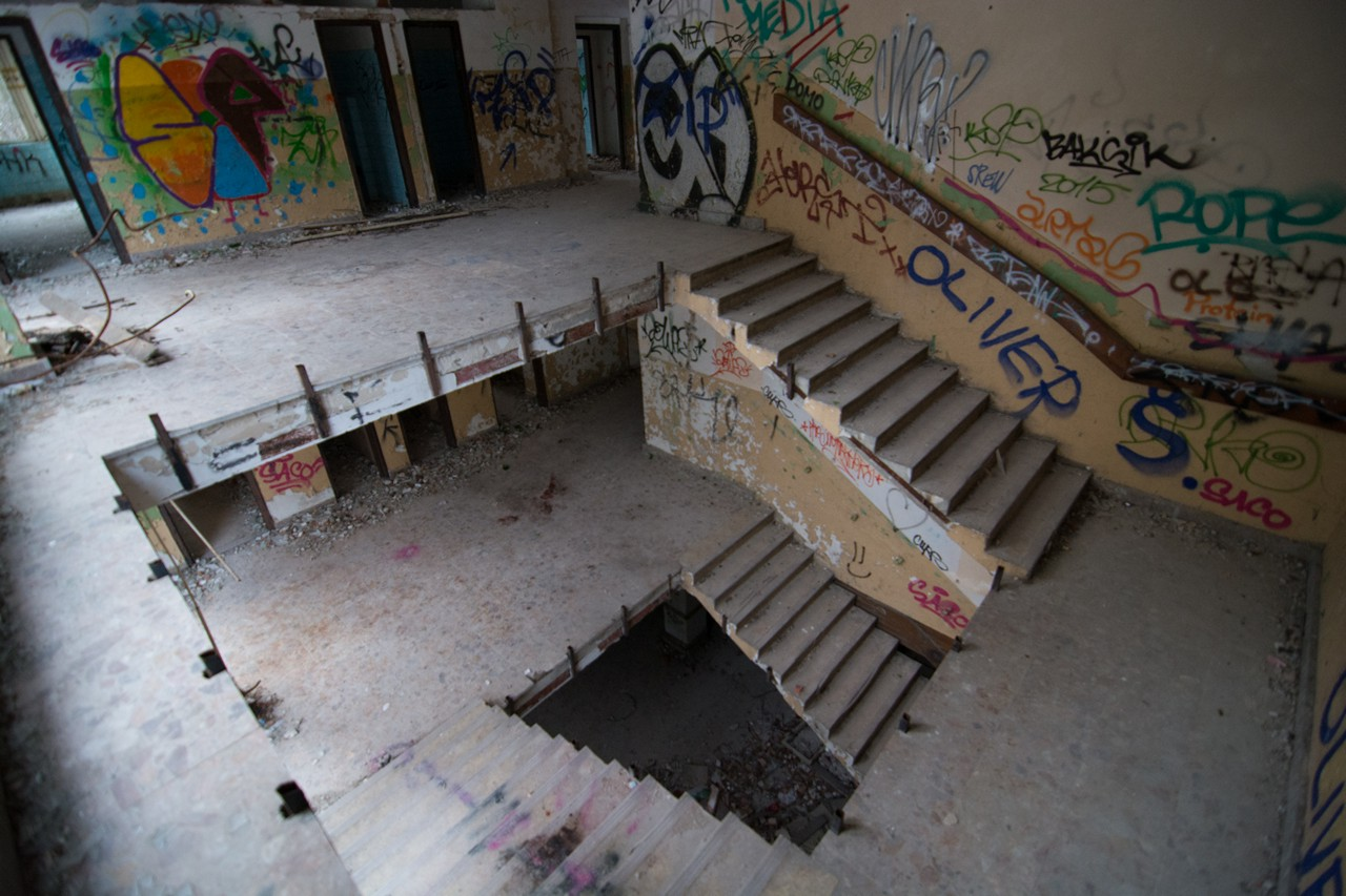 The stairs at abandoned building 2