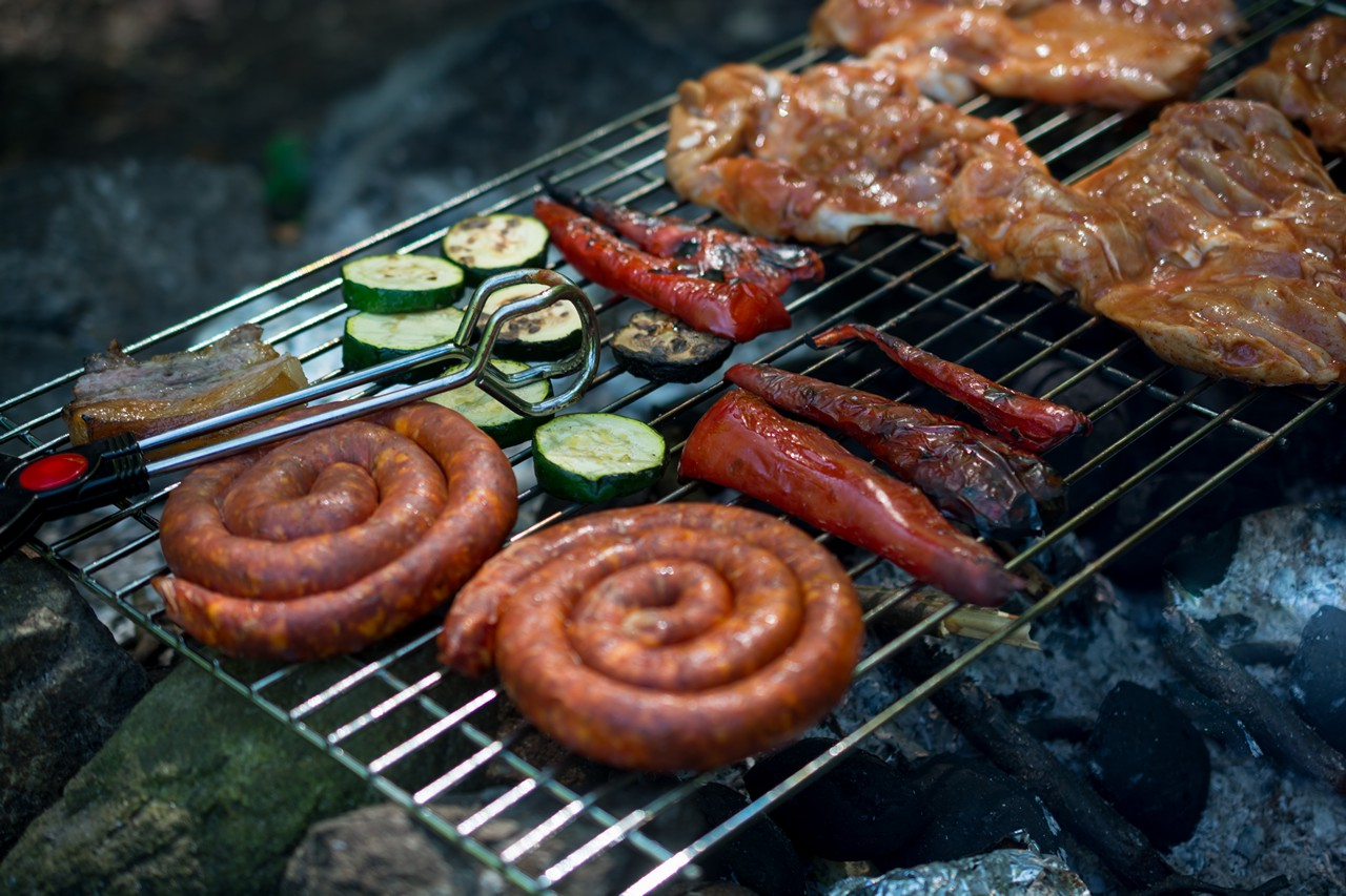 BBQ Sausages & Vegetables