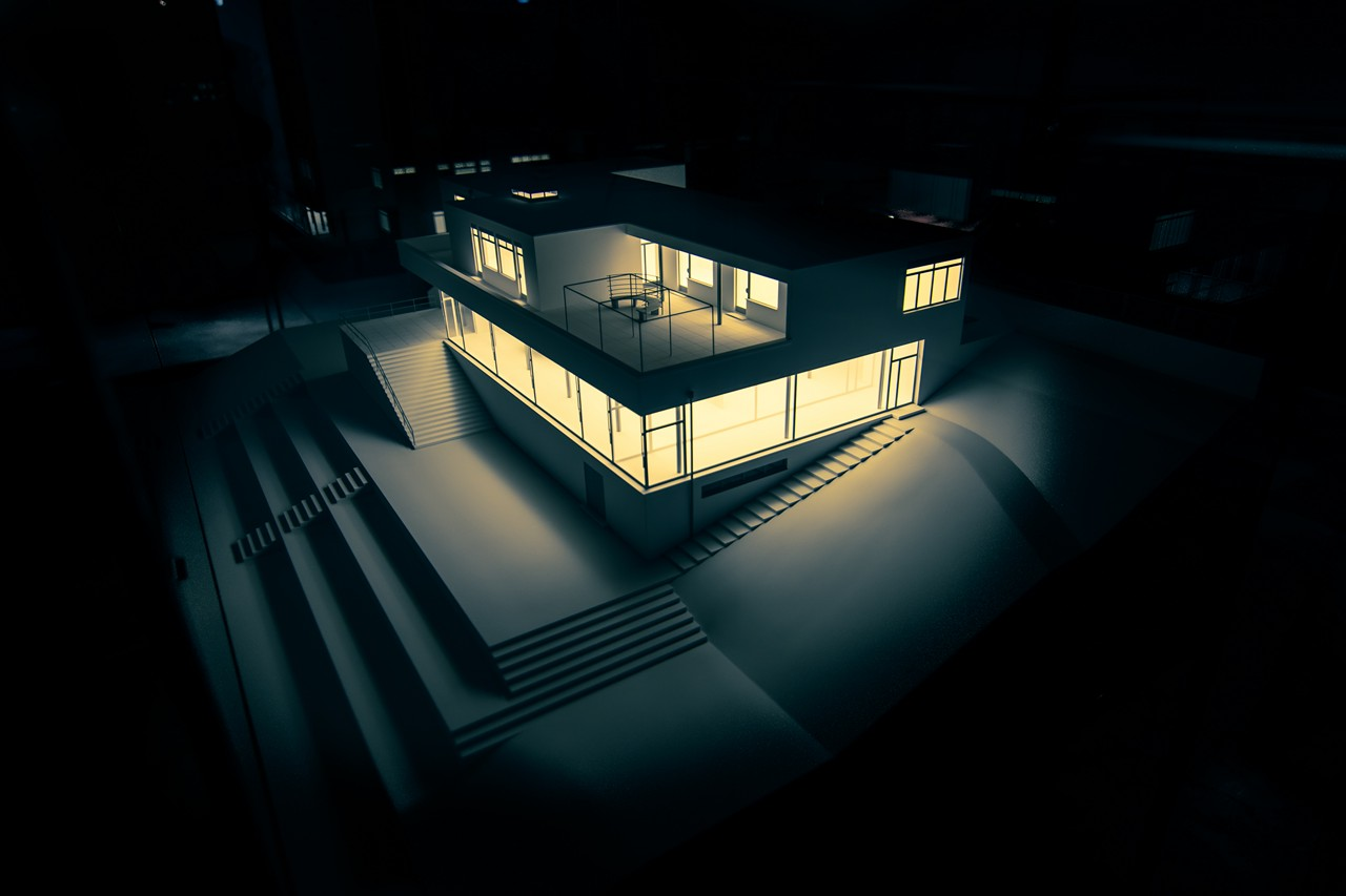 Villa Tugendhat Model Behind Glass #4 - free architecture images to use - tugendhat