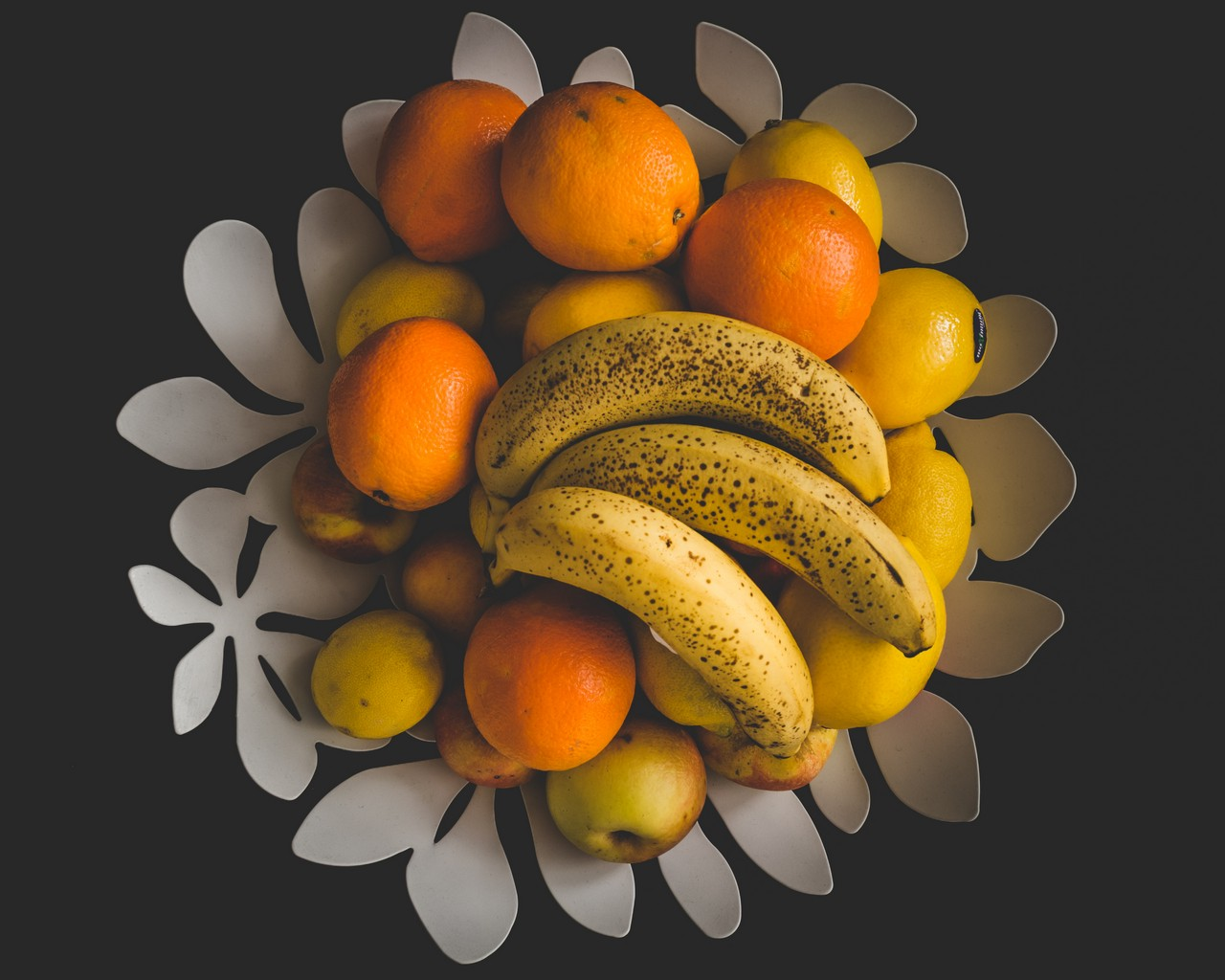 Fruit Bowl - free food-drink images to use - yellow, orange, fruits, food