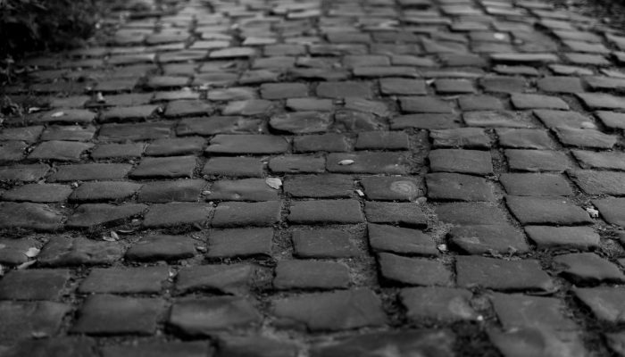 Black Cobblestones pavement