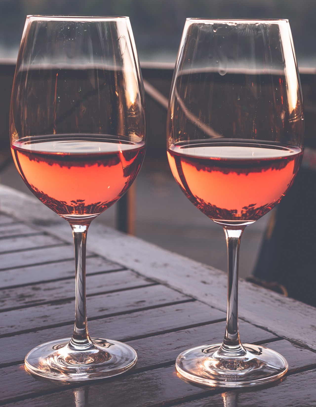 Two Glass of Vine in the Sunset 2